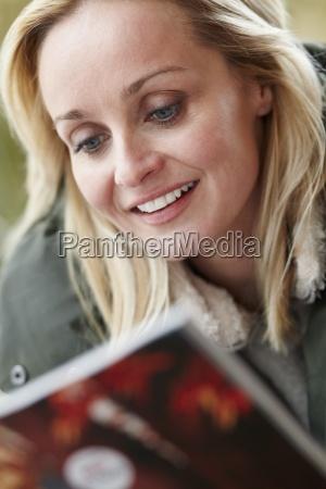 outdoor portrait of woman wearing winter