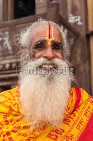 alter, indischer, mann, mit, vollbart, und - 7486803