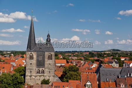 view over quedlinburg