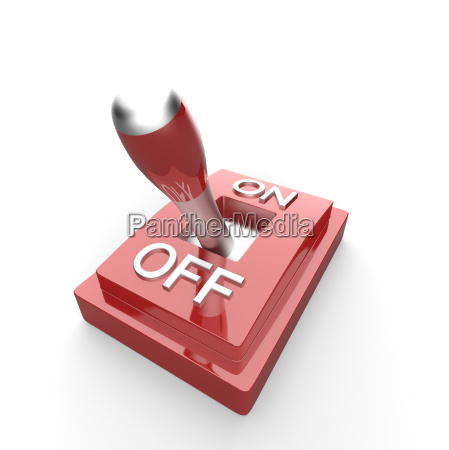 the red 3d toggle switch