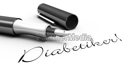 diabetiker stift konzept