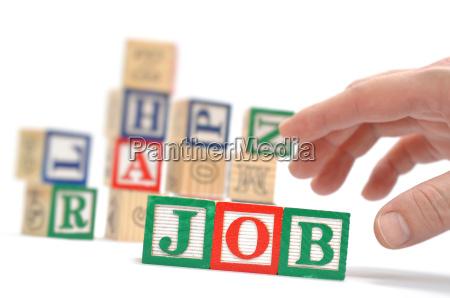 alphabet blocks buchstabieren die woerter job