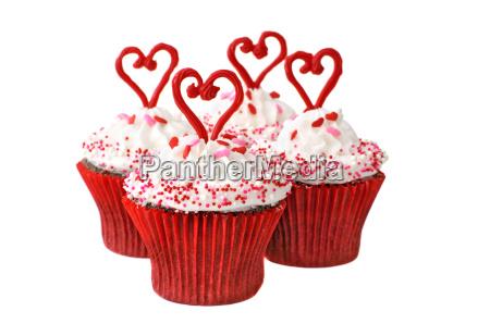 cupcakes fuer valentine