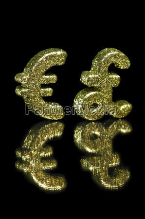 goldener, glitter, euro, und, britisches, pokalsymbol - 7508171