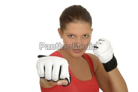 junge boxerin