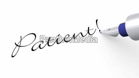 pen concept patient