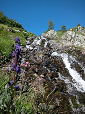 gebirge alpen berg berge bach wasser