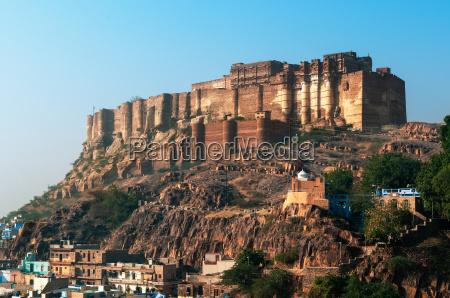 the impressive mehrangarh fort in jodhpur