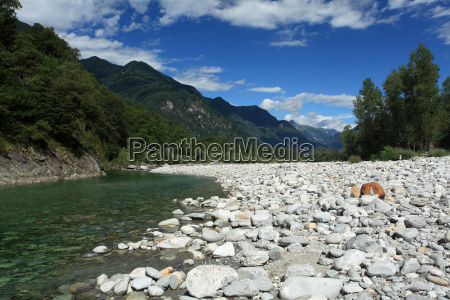 maggia valley in ticino switzerland