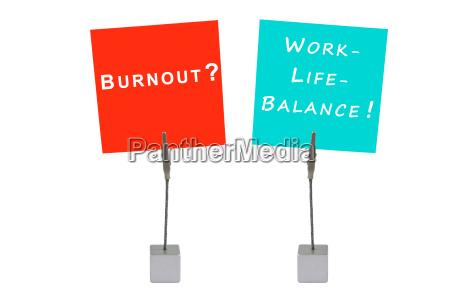 notizhalter und merkzettel burnuot work life