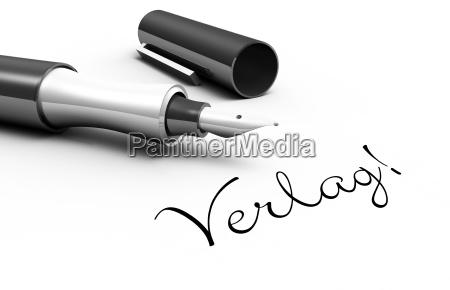 publishing company pen concept