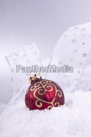 red and golden christmas balls christmas