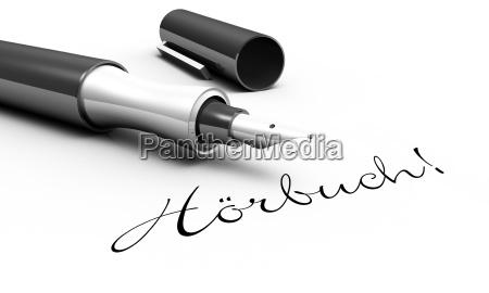 audiobook pen concept