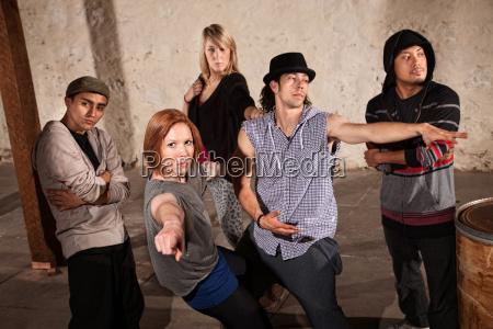 break dancing group