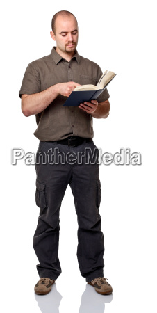 man with book