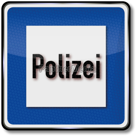 road sign police