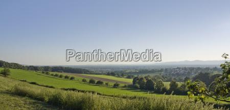 idyllic panoramic view around emmendingen