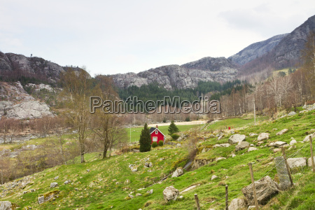 intact landscape in norway europe