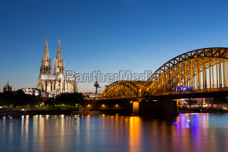 cologne cathedral and hohenzollernbruecke