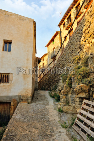 landscape with old spanish town ares