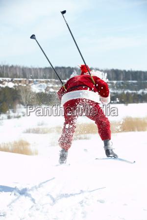 weihnachtsmann hastet