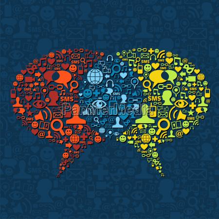 social media sprechblase interaktion