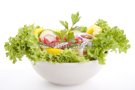 fresh healthy salad with mixed vegetables