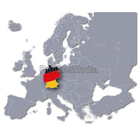 europakarte deutschland