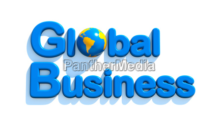 concept of global business 3d