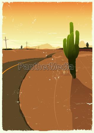 western desert road
