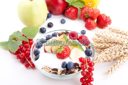 delicious healthy breakfast with cornflakes and