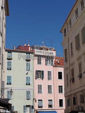 mediterranean buildings ajaccio corsica