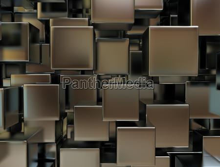 abstract 3d metal blocks