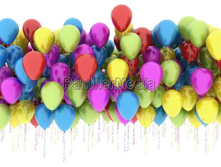 mulri farbe luftballons isoliert auf weissem