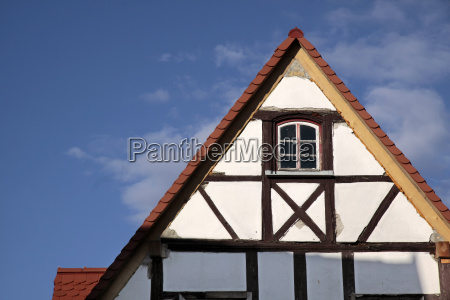 gable of a half timbered house