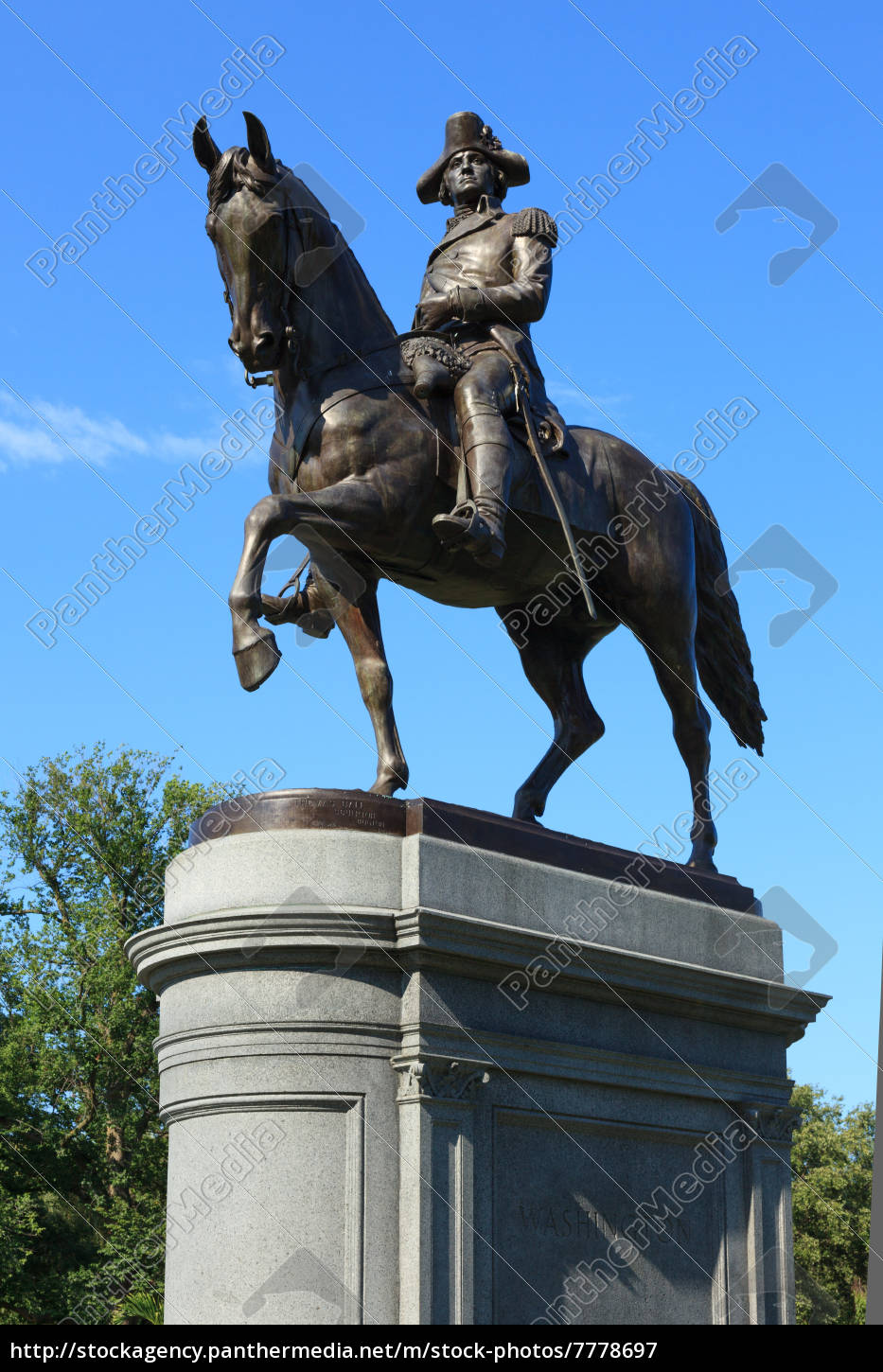 george, washington, statue, in, boston, common - 7778697