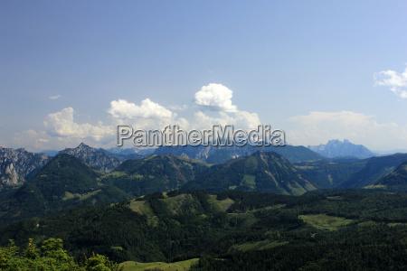 view from zwoelferhorn direction dachstein