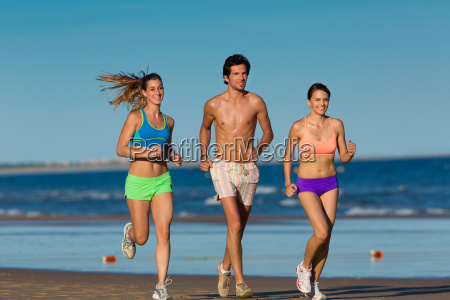 fitness and sports on the beach