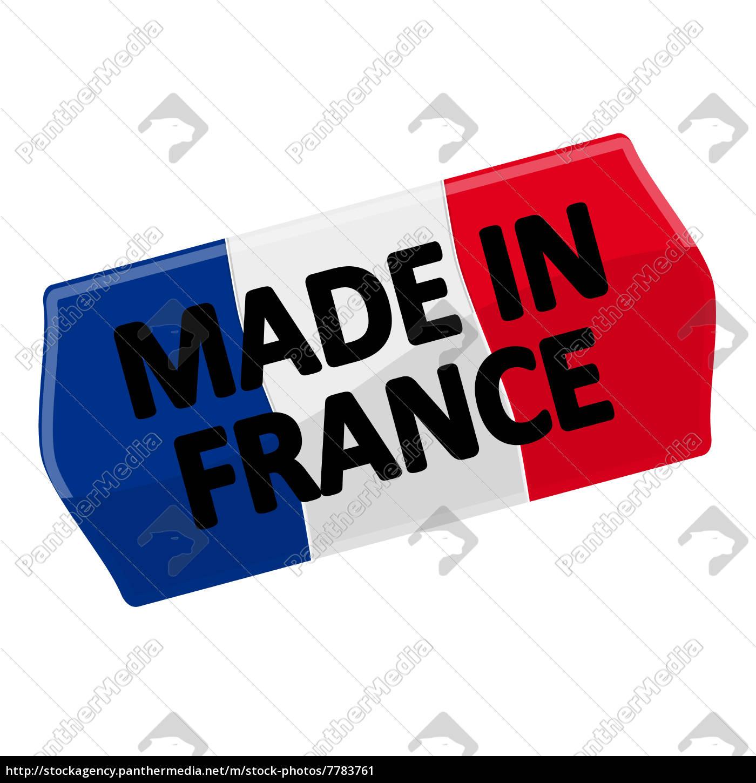 Preisschild Made In France Stockfoto 7783761 Bildagentur