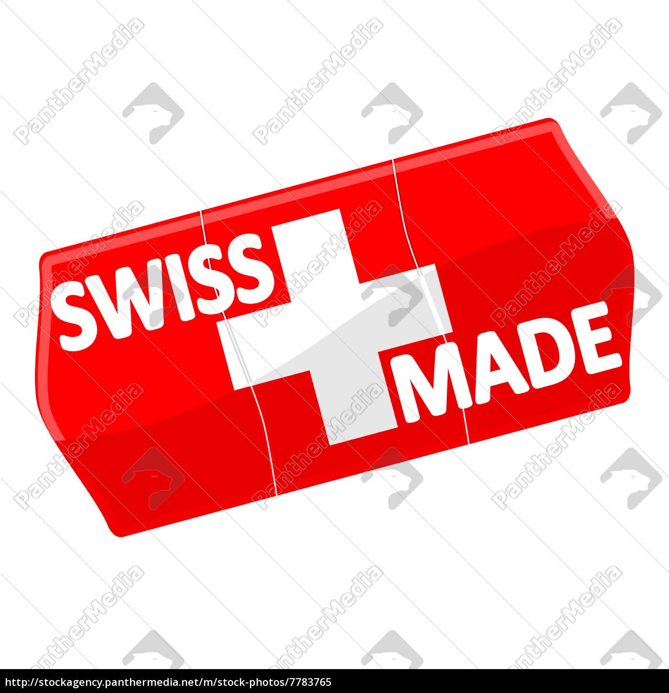 Preisschild Swiss Made Lizenzfreies Bild 7783765