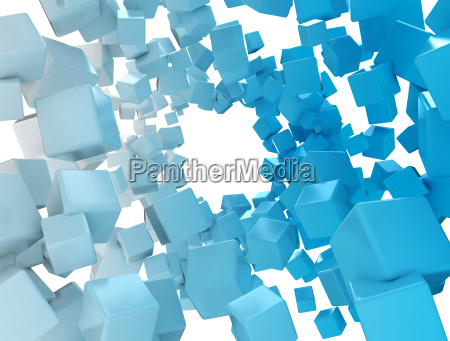 abstract 3d cubes data packages