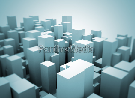 abstract 3d city model