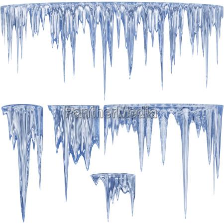 blau glas becher trinkgefaess kelch winter