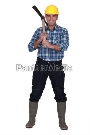 mann mit axt