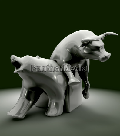 bulle und baer economic trend statue