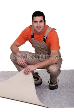 handwerker aenderung der teppich