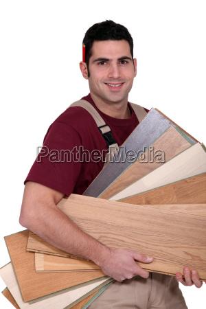 carpenter tragen sperrholz