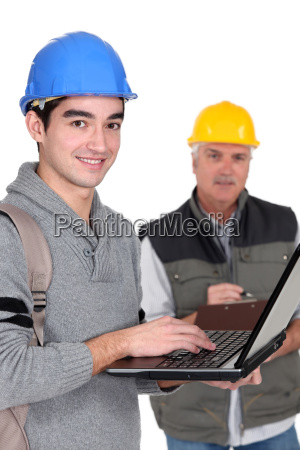 a trainee manual worker with a