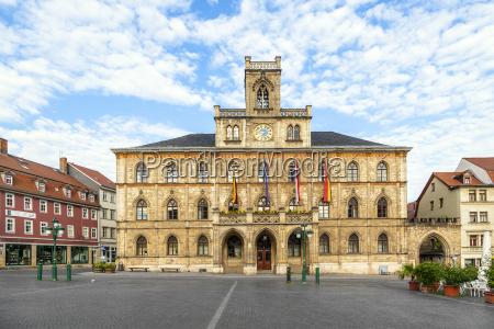 rathaus weimar in deutschland unesco welterbe