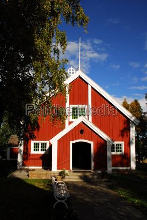 kirche in schweden lappland